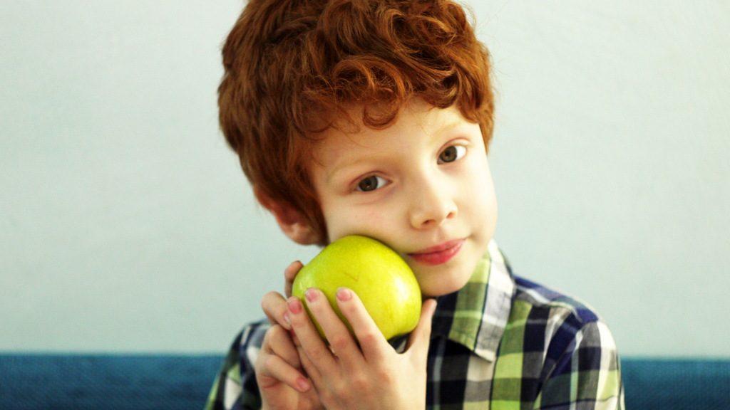 Яблуня при вікні