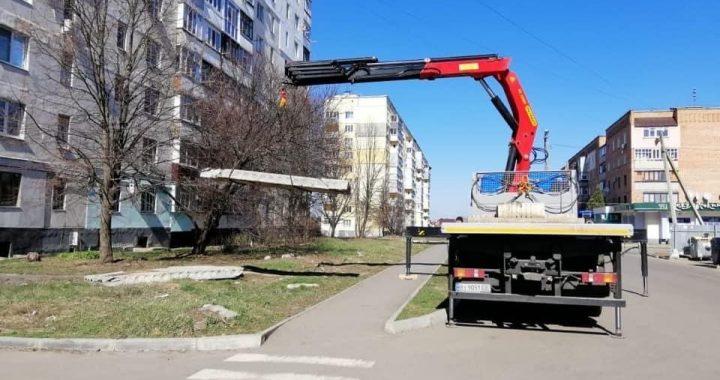 З Полтави почали вивозити великогабаритне будівельне сміття
