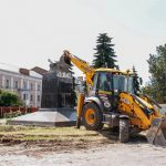 У Полтаві розпочали роботи  зі встановлення найбільшого прапора України в області